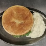 Good ol' pot pie with mashed potatoes