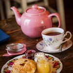 Tea and scones are the perfect treat.