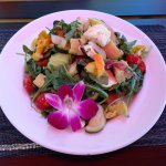 Yummy Salad With Edible Flowers At The MFA Cafe, St. Petersburg, FL