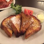 My luscious French Toast and perfectly cooked bacon!