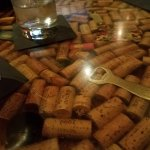 The Bar top with Corks inside