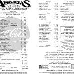 Andria's Seafood Menu
