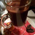 Warm chocolate with sweet Vinsanto wine