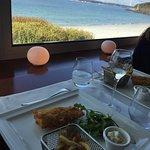 Magnifique journée et un magnifique repas près de la baie vitrée. Service précis même avec le lé