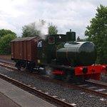 The unusual fireless steam loco seen in action at Dunaskin