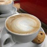 Delicious caramel latte