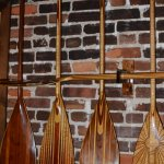 decorative paddles on the wall