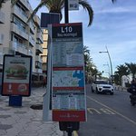 L10 Bus stop near hotel for airport
