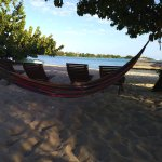 Hammocks and comfy beach chairs await you at The Shak