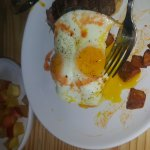 Steak and eggs with home fries