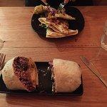 Dodgy margaritas, good burritos, too much garlic on quesadillas