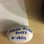 won two free tickets to museum by finding this rock outside on the grounds