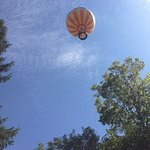 The tethered balloon ride affords fabulous views