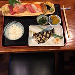 Gindara with special selection of sushi and sashimi