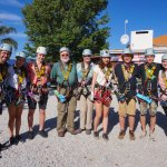 Our tour group zip-lining in the Tsitsikamma National Park.