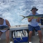 We were so proud of ourselves! Look at the size of these fish. It was a workout reeling them in.