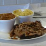 Pulled Pork with Beans, Mac n Cheese