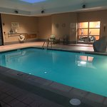 The pool is very small but very clean with nice sun beds and plenty of towels. Water is warm and