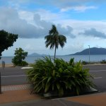 view from main street to Hinchinbrook Is