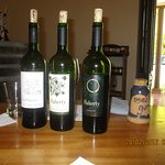 Three of the many superb wines tasted on the tour