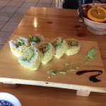 The avocado sushi