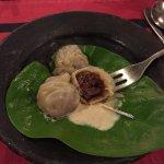 Delicious MoMos in the Krishnarpan Restaurant