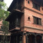 Beautiful carved wooden balconies