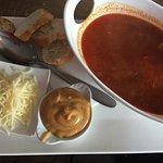 Fischsuppe mit rouille..scharfer Mayonnaise