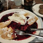 The wildberry crepes were so rich and filling.
