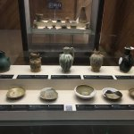 Some pots on display that were recovered