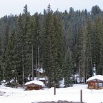 Lone Mountain Ranch view of cabins