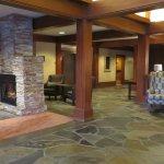 Lodge lobby area - fireplace
