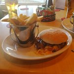 butifull pulled pork burger and chips