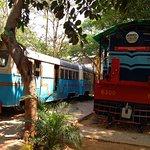 meter guage diesel loco and train bus