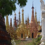 Stupas adjacent to Shwe Inn Tain Pagoda, Indein