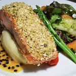 Cereal-Pistachio Crusted Salmon