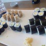 sushis variés