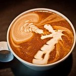Coffee time at Abode #latteart #cappuccino #art #lartte