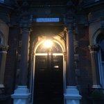 Welcoming light at the door.