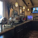 BEST WESTERN Travel Inn lobby and breakfast counter