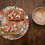 Avocado toast with tomatoes and lactose free Arna feta cheese