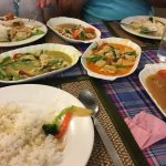 Thai Green and Red Curries with Chicken in Cashew Nuts
