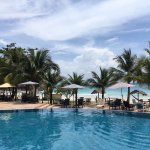 Stunning beach and pool views