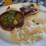 Lamb & pea curry with rice