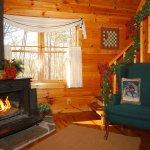Creek Crest riverfront cabin in winter