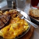 Pork Chop, Eggs, Home Fries & English Muffin @ Thomas'