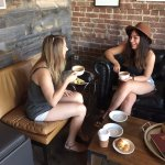 Friends get together at Amelia Island Coffee