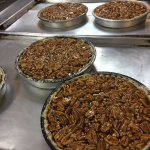 Kentucky Bourbon Pecan Pies ready for the oven!