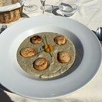 saints jacques fraîches sur polenta très crémeuse à la truffe