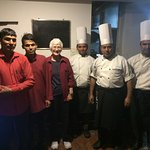 With Chef Narendra and his staff